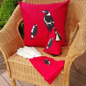Trish magpie cushion