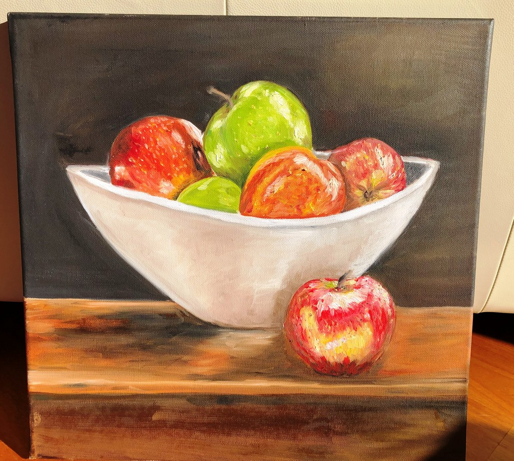 Fiona-Westwood-Oil-on-canvas-Apples